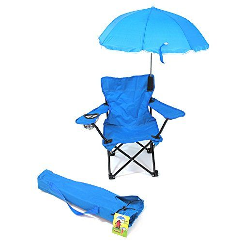 Kids' Folding Chairs - Redmon For Kids Beach Baby Kids Umbrella Camp Chair Blue -- Want to know more, click on the image.