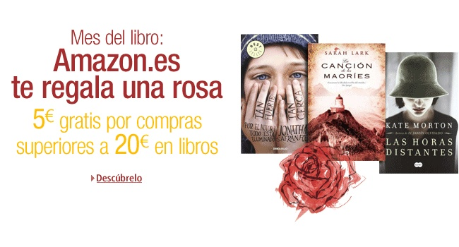 5€ gratis en Amazon por compras de 20€ o más en libros hasta 20/04 http://www.amazon.es/gp/feature.html?ie=UTF8=1000628833=ex0f-21