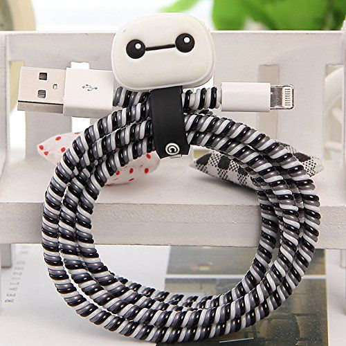 17 best images about spiral cable cord protector on Charger cord organizer diy