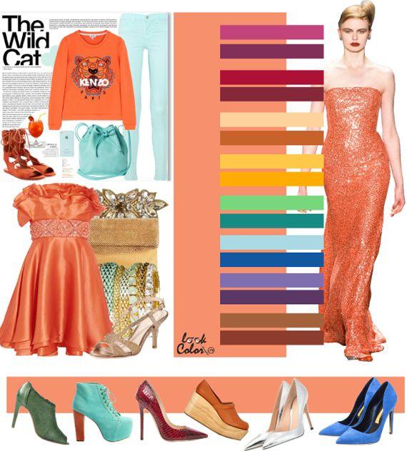 Сочетание со светло-оранжевым цветом 2016  Оранжевый кадмий 15-1340. Мягкий, экзотичный привлекательный, он располагает к общению, клубным и романтическим приключениям: независимый, творческий, фантастический оттенок. Конечно, он больше подойдет для отдыха и праздников. Сочетания с этим оттенкам столь же позитивные и ненавязчивые.