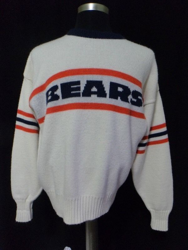 Vintage #Chicago #Bears White Medium Cliff Engle Sweater #NFL Ltd from $150.0