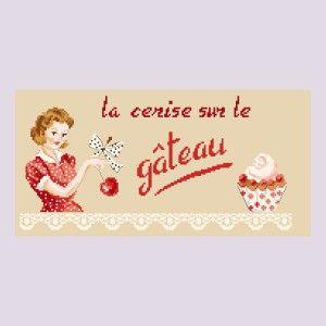 Grille « Cerise sur le gâteau » Les Brodeuses Parisiennes