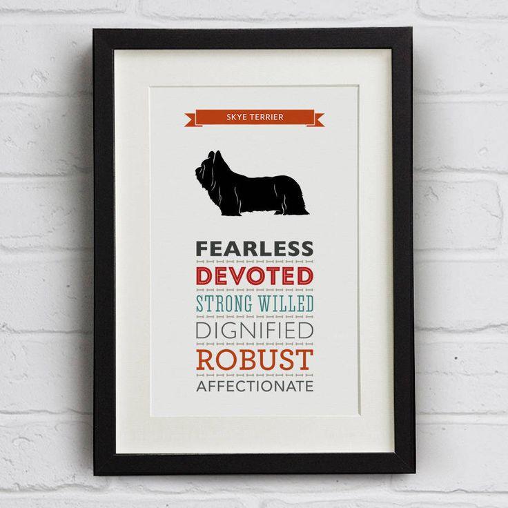 Skye Terrier Dog Breed Traits Print