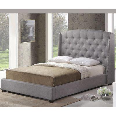 baxton studio ipswich gray linen modern platform bed king size at kmart reg