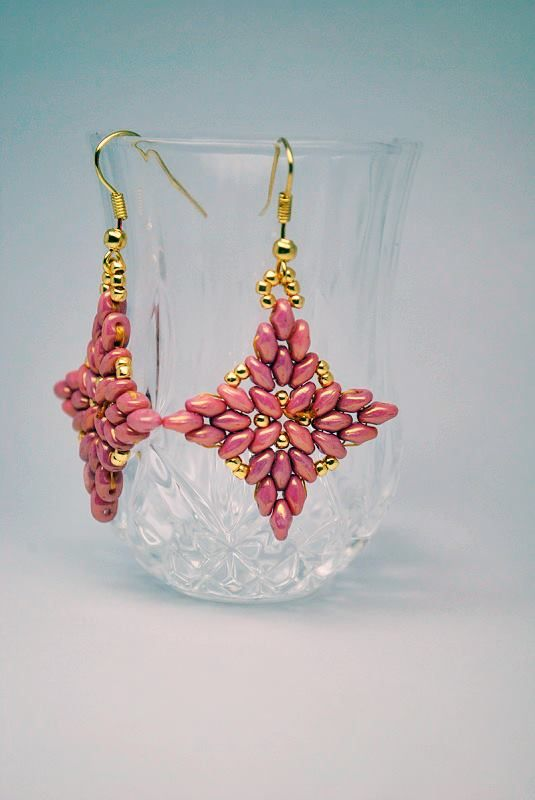 How to make earrings with Superduo / Twin and Toho beads. | Biser.info - all about beads and beaded works - 1