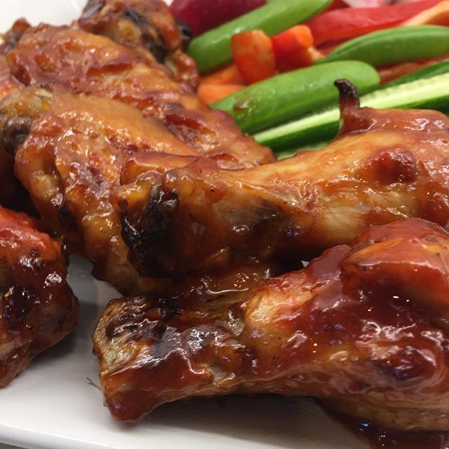 Brown sugar BBQ chicken wings: Mix 2 c. ketchup, 1 c. brown sugar,  2 T. Worcestershire sauce, 2 T. cider vinegar, salt and pepper to taste. Reserve 1 c. of sauce with raw wings, reserve remainder for tossing with cooked. Bake wings at 400F until done (ap (scheduled via http://www.tailwindapp.com?utm_source=pinterest&utm_medium=twpin&utm_content=post180778453&utm_campaign=scheduler_attribution)