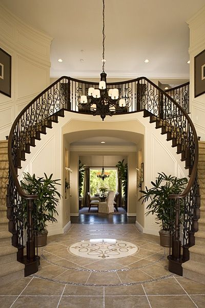 147 Best EntrancesFoyersStaircases Images On Pinterest Entrance Foyer Foyer Staircase And