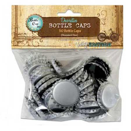 Bottle Cap - Capsules de bouteilles Ø 30 mm - Silver - x 50