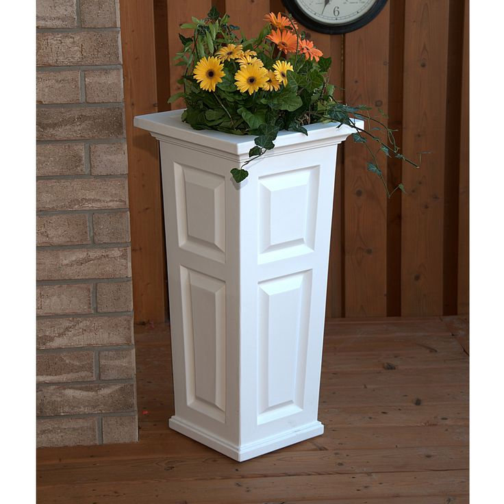 Mayne Nantucket Tall Planter White 4833-W