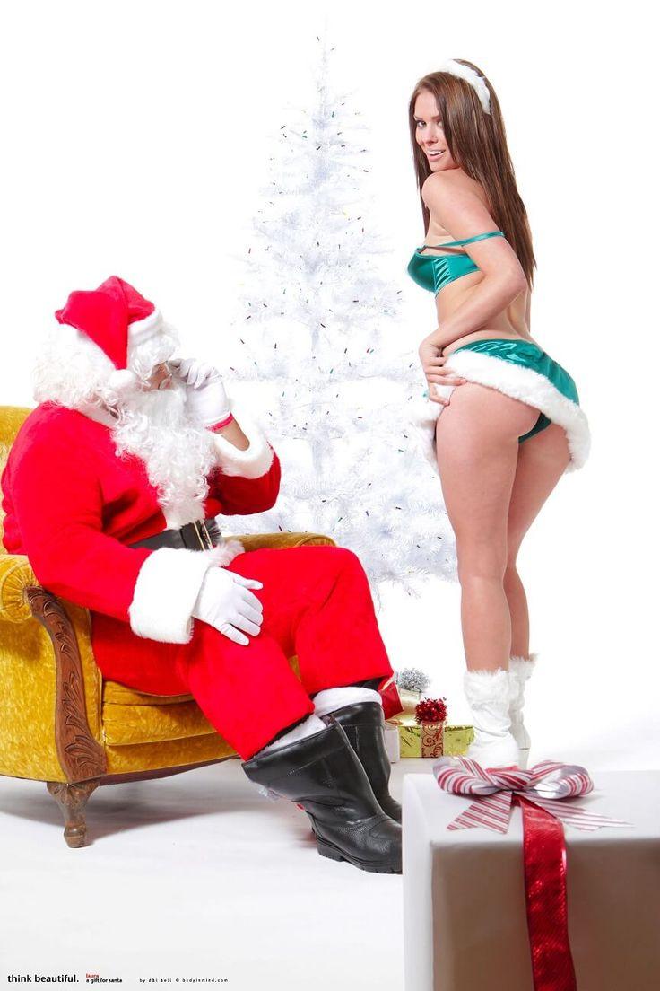 Laura Christina poses for santa