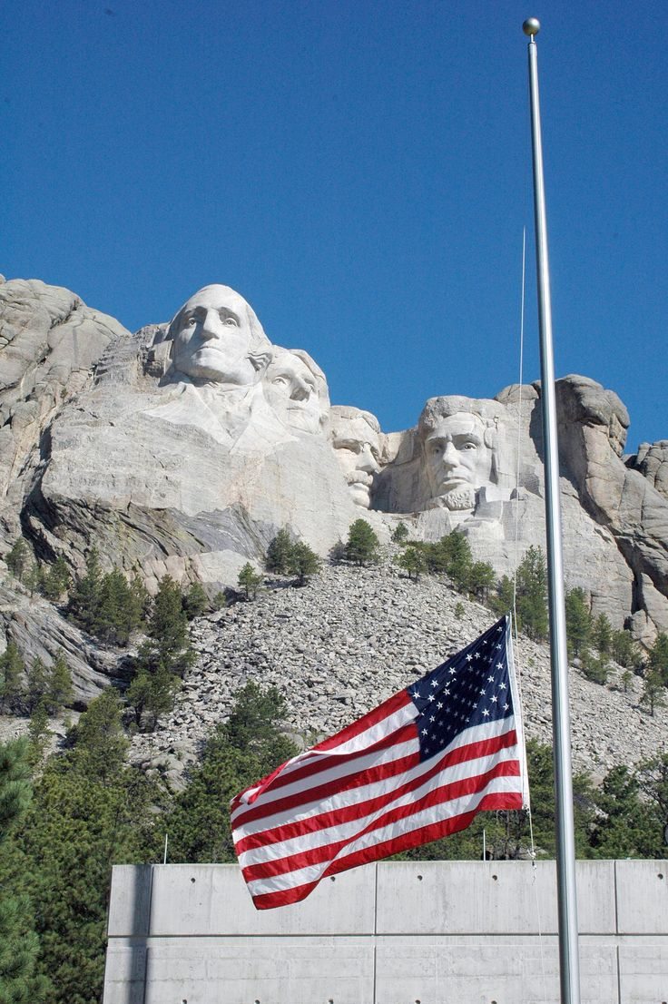 Mount Rushmore flag at half mast in honor of MAFFS 7 (@NC National Guard) #NationalGuard #SC13