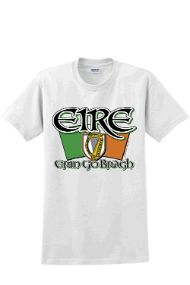 Eire - Erin Go Bragh - Adult Unisex Cotton T Shirt.  Show your Irish pride for St. Patrick's Day!  100% Cotton