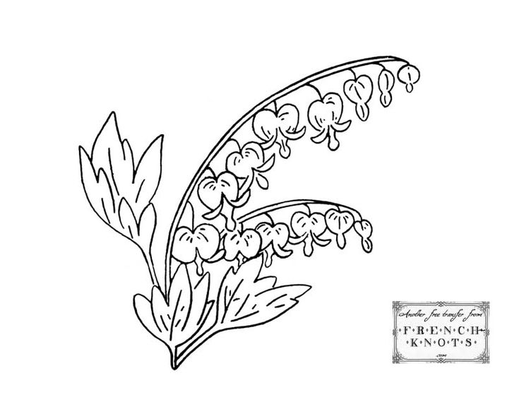 bleeding heart flowers - Hearts Flowers Coloring Pages