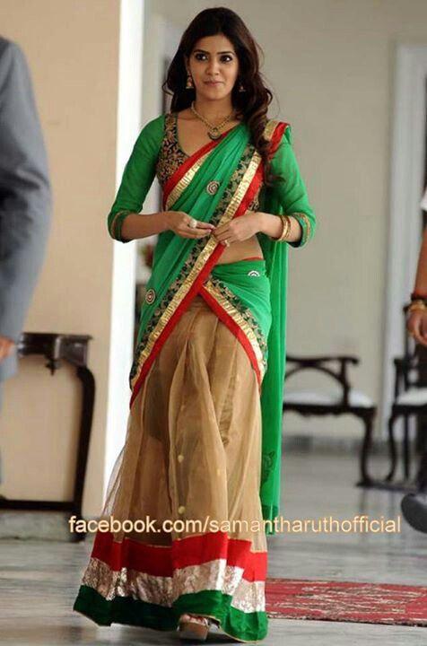 Samantha in half saree