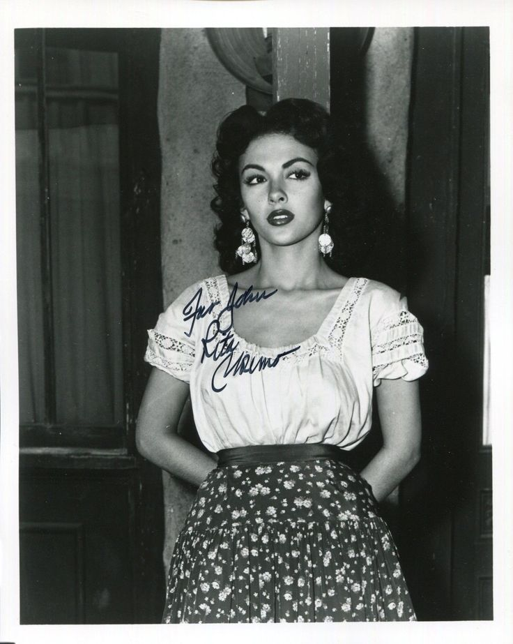Rita Moreno Hand Signed 8x10 Photo COA Gorgeous Young Actress to John | eBay