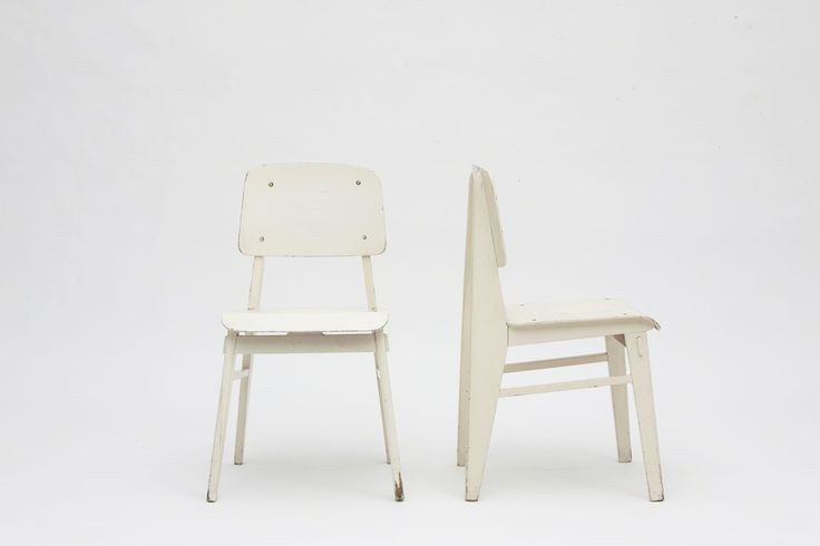 Pair of white standard chairs