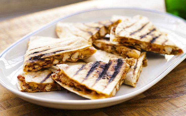 If you have an indoor grill like the George Foreman models, it is perfect for making these quesadillas. Otherwise, place them on