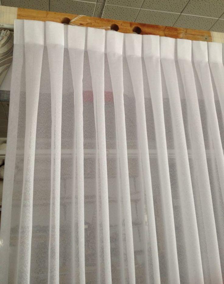 Invert box pleat sheer curtain