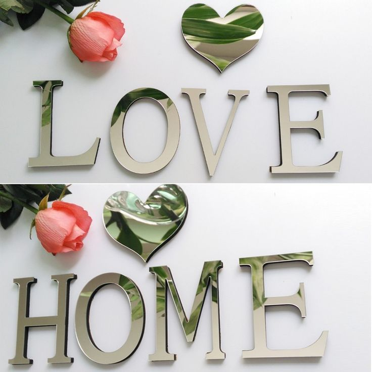 Shiny Silver 3D Letter Sticker   Free Worldwide Shipping!  Only $3.08    Order from: www.happycozyhome.com