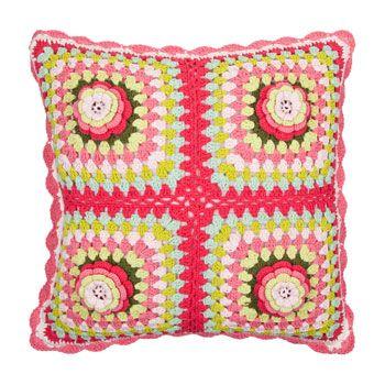 Crochet pillow | ''HOME KNIT&CROCHET'' | Pinterest