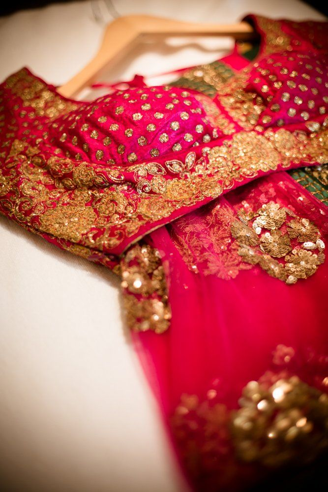 Kavya's Reddish Pink Embellished Wedding #Saree.