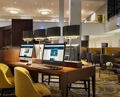Hilton Stamford Hotel & Executive Meeting Center, CT - Lobby Business Center | CT 06902