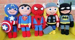 Superhero Crochet Patterns by Mary Smith. www.onebymeforyou.com