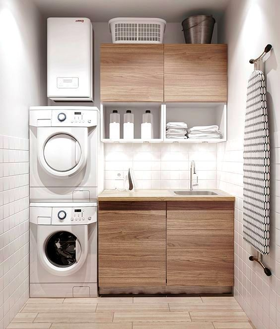 Modern and compact laundry room. #laundryroom homechanneltv.com