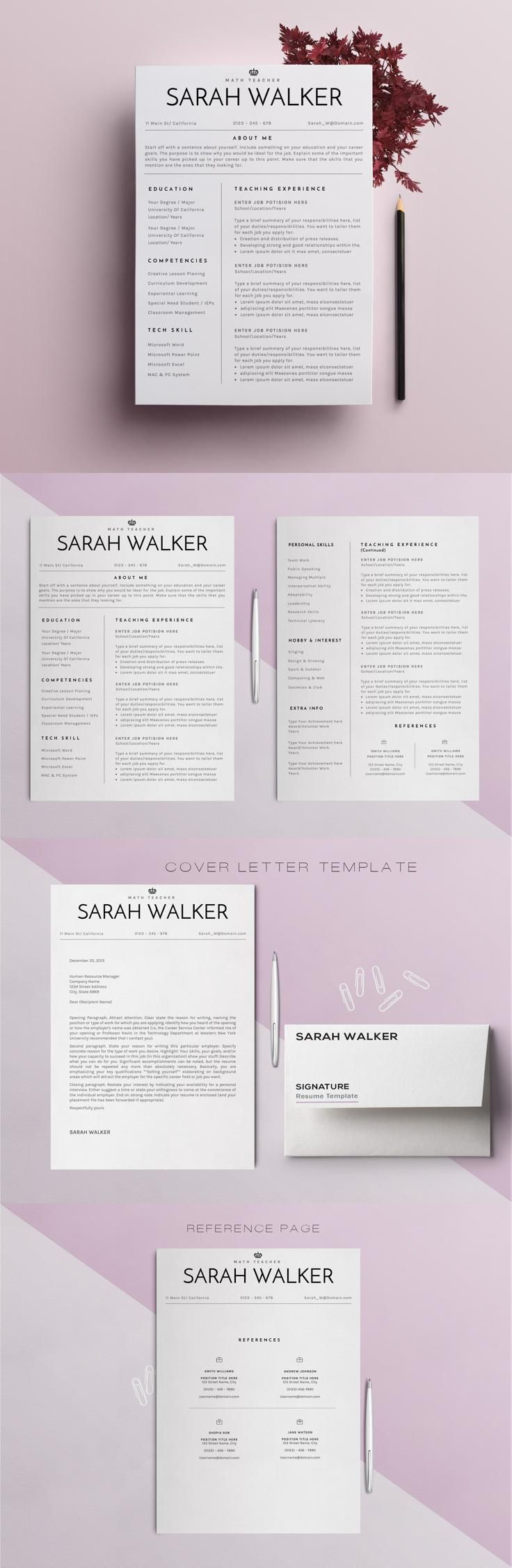 Clean Resume Download%0A  resume  design from themexriver   DOWNLOAD  https   creativemarket com