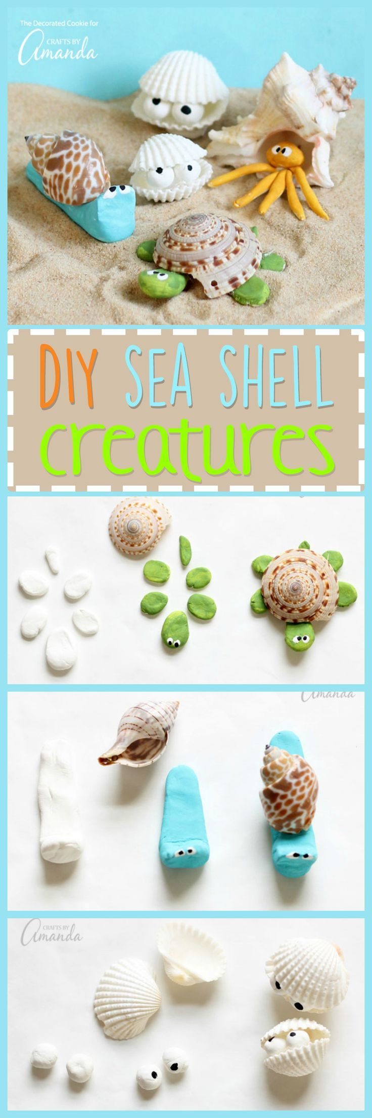 These sea shell creatures are the perfect beach craft to tackle after collecting shells from your latest beach vacation. Make your own unique creature!