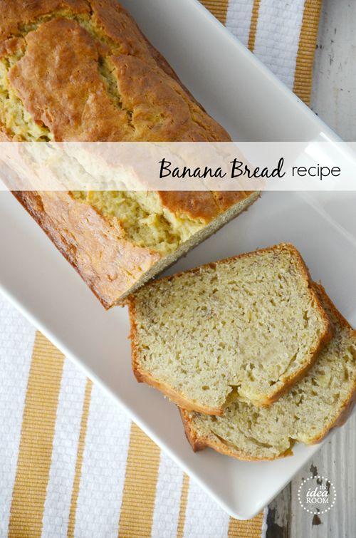 Easy Banana Bread Recipe that is moist and delicious. My favorite Banana Bread so far!   theidearoom.net
