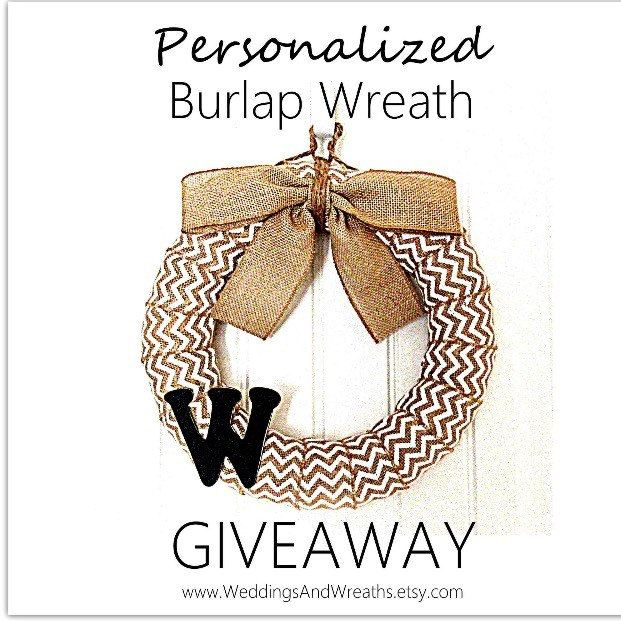 Stop by our Facebook Page to tell us what letter you would put on your wreath and you'll be entered to win a 14-Inch Personalized White Chevron Wreath. #etsy #WeddingsAndWreaths   Facebook @ WonderstruckWeddingsAndWreaths