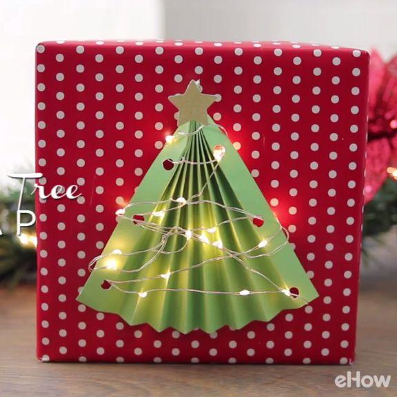 Christmas Gift Wrap Bags Part - 33: Lighted Christmas Tree Gift Wrap