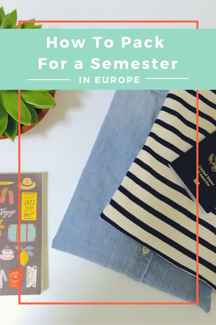 The ultimate packing guide with everything you need to know about how to pack for a semester abroad in Europe!