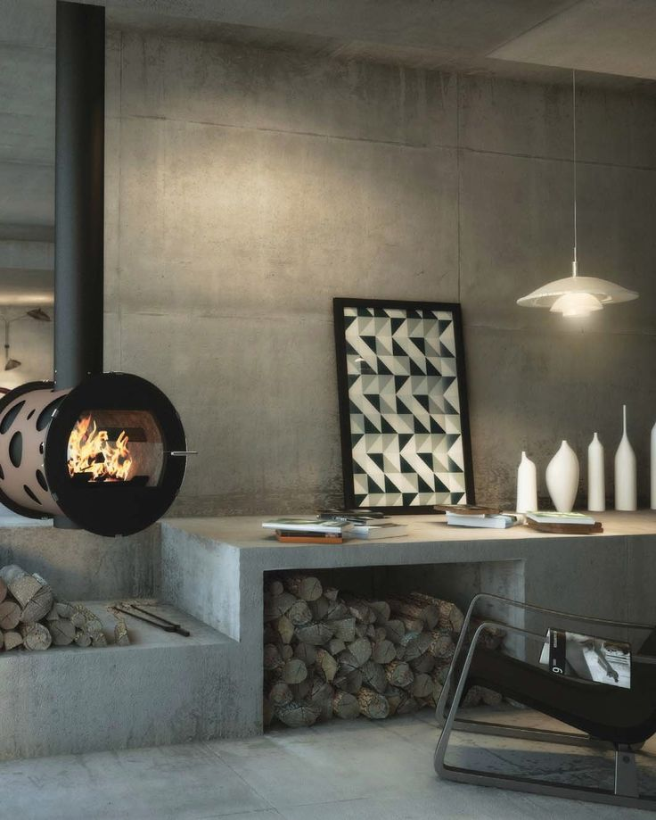 Wood-burning stove INTEGRAL by CHEMINEES SEGUIN DUTERIEZ #fireplace #winter