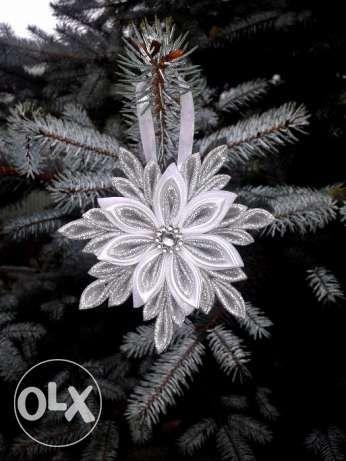 Rękodzieło 6 szt.Śnieżynki Aniołki Ozdoby Świąteczne Choinkowe Ciechanów - image 1