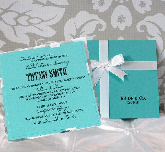 Tiffany Wedding Invitations: Tiffany & Co Inspired Bridal Shower Invitations By