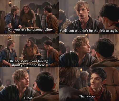 Hahaha, loved this part - one of the rare moments where Merlin gets at least a little bit of recognition