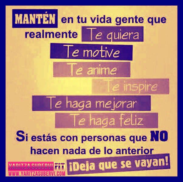 Buenos Días! Rodéate de Gente Positiva, la negativa que siga llorando para maternidad!!! www.yaritzasubervi.com