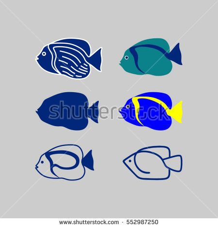 Poma fish vector pack