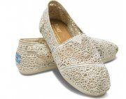 Toms Womens Crochet shoes Beige