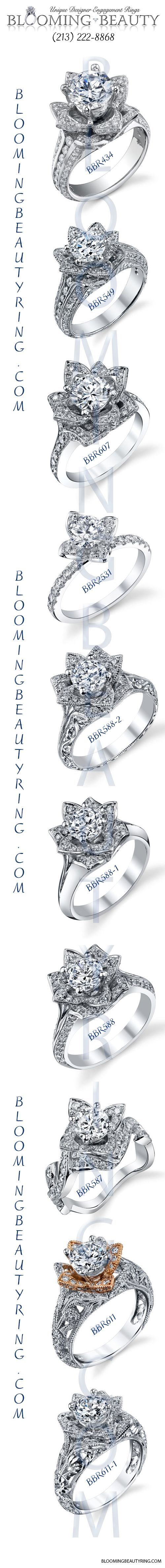 http://www.BloomingBeautyRing.com  A beautiful collection of #FlowerEngagementRings from an engagement ring designer in Los Angeles, CA.  #GorgeousFlowerRings !!