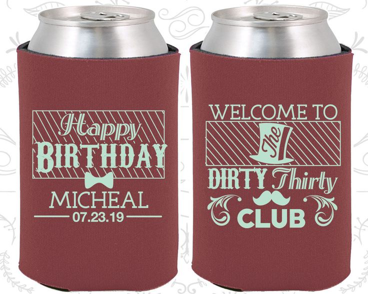 30th Birthday, 30th Birthday Favors, Promotional Birthday Favors, The Dirty Thirty Club, Happy Birthday Favors, Birthday Party Favor (20018)