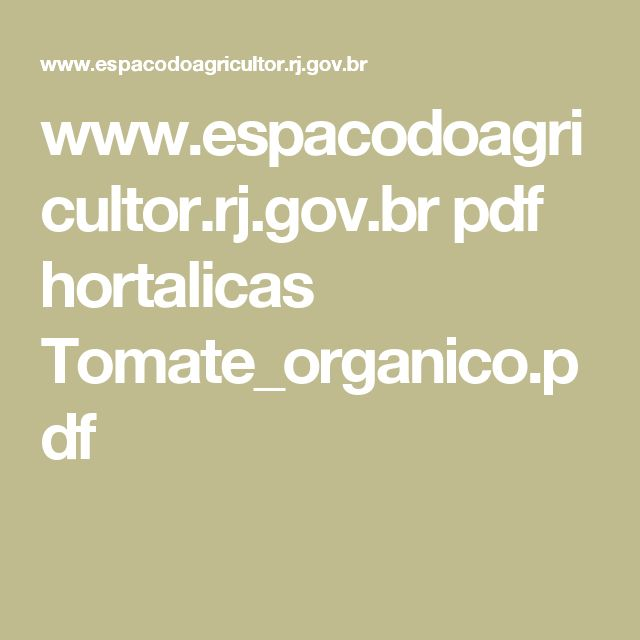 www.espacodoagricultor.rj.gov.br pdf hortalicas Tomate_organico.pdf