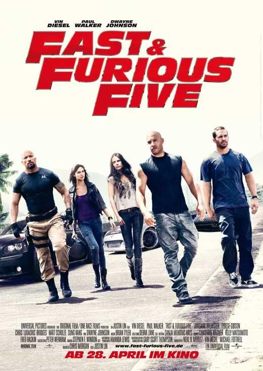 Fast Five German 27x40 Movie Poster 2011 Furious Movie Fast