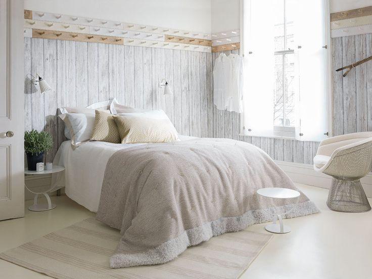 Pared de madera en el dormitorio Paredes Pinterest - paredes de madera