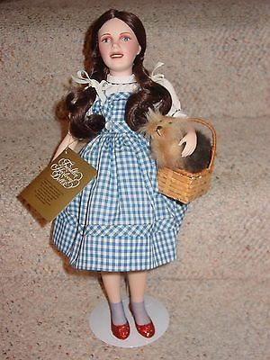 cool FRANKLIN HEIRLOOM DOLLS DORTHY WIZARD OF OZ WITH TOTO IN BASKET PORCELAIN DOLL - For Sale Check more at http://shipperscentral.com/wp/product/franklin-heirloom-dolls-dorthy-wizard-of-oz-with-toto-in-basket-porcelain-doll-for-sale/
