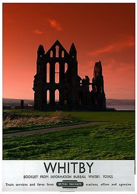 Visit Whitby railway poster pinned by www.realyorkshiretours.co.uk #yorkshire
