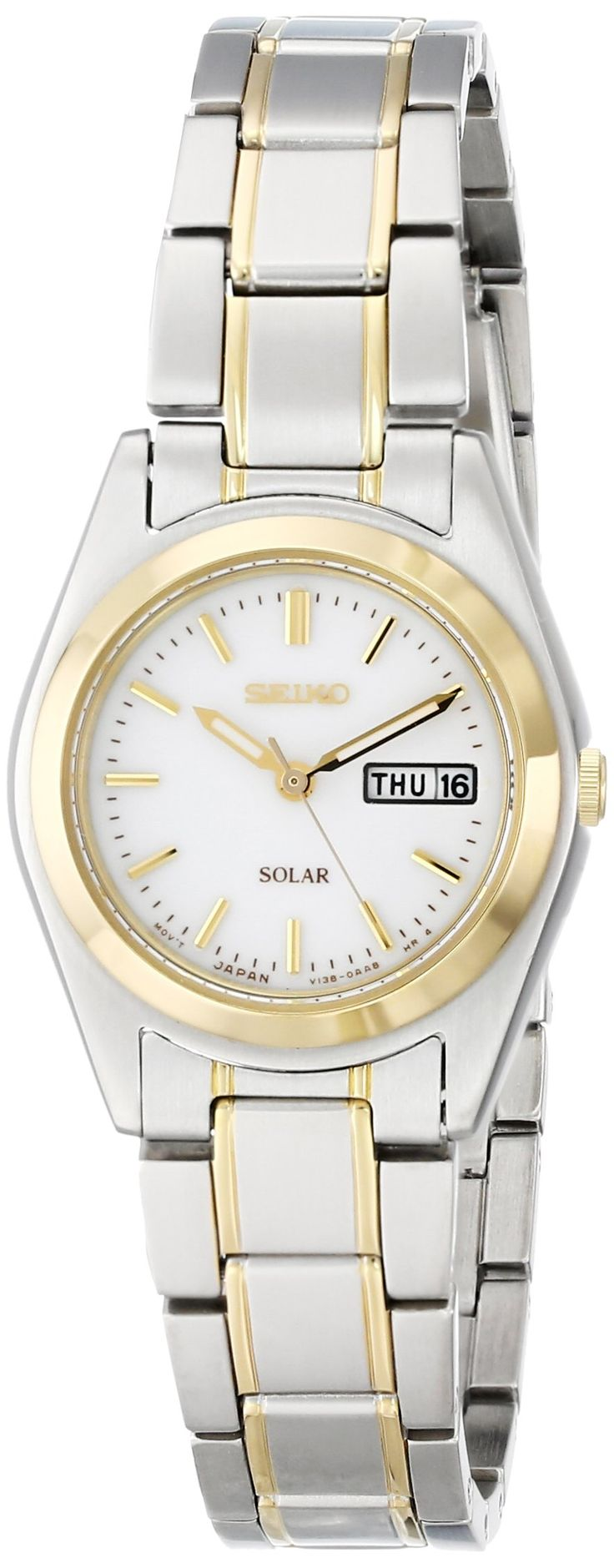 seiko s sut108 two tone stainless steel solar