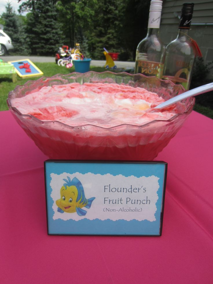 Fruit Punch for a princess birthday party